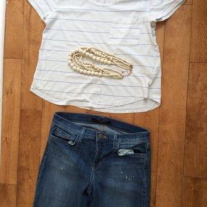 JBrand mid rise slightly distressed jeans